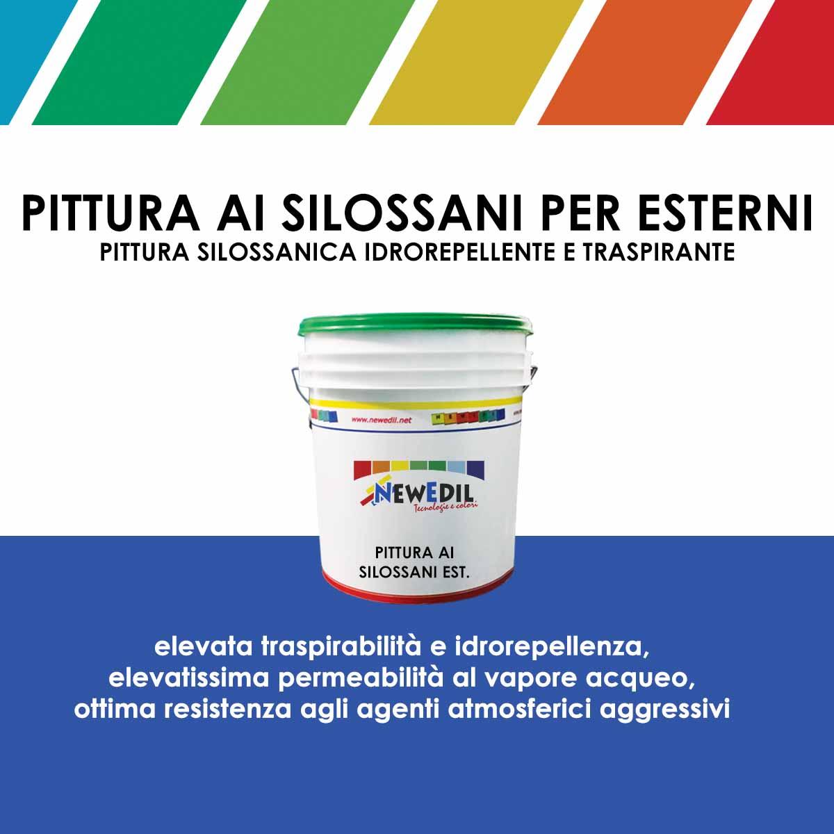 Pittura ai silossani per esterni new edil - Pittura idrorepellente per esterni trasparente ...
